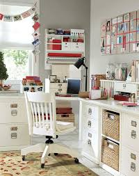 beautiful home office and craft room with built in corner l shaped desk and beautiful home office shaped