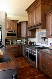 narrow kitchen interior ideas solid wood interior small kitchen design using solid red cherry wood kitchen floo