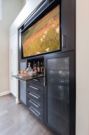 hidden liquor cabinet for transitional home bar with built in tv wall built home bar cabinets tv