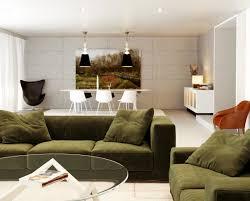 space living room olive:  green white orange living room