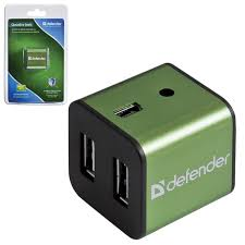 Купить <b>Хаб DEFENDER</b> QUADRO IRON, <b>USB</b> 2.0, 4 порта ...