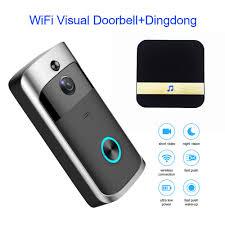 <b>WiFi</b> Intelligent Video <b>Doorbell</b> HD 720P <b>Visual Camera</b> Ring IR + ...