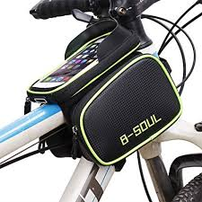 "<b>RockBros</b> Bike Frame Bag 6.0"" <b>Touch Screen</b> Waterproof Front Tube ..."