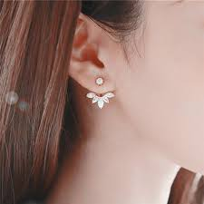 Simple <b>1Pc New Crystal Flower</b> Stud Earrings For Women Girl Ear ...