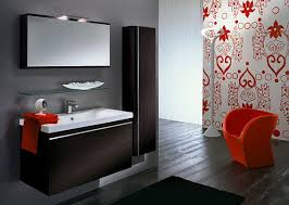 popular cool bathroom color: view in gallery contemporary bathroom design with tangerine tango colors keeping up with the trend setters pulp up