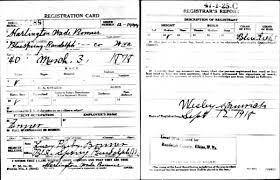 world war i draft cards carpenter job fulton