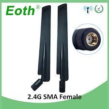 <b>10pcs 2.4GHz Antenna</b> wifi real 8dBi RP SMA Female 2.4 ghz ...