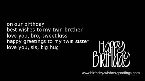 Twins birthday poems and first bday quotes and messages via Relatably.com