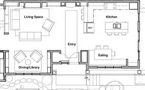 The Not So Big Showhouse  A Virtual TourShowhouse library alcove and kitchen floor plan