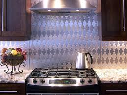kitchen backsplash stainless steel tiles: tin kitchen backsplash original stainless steel backsplashes harlequin dark wood sxjpgrendhgtvcom