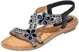 Hemlock Flat <b>Sandals</b> for Women, Bohemia <b>Bling Rhinestone</b> ...