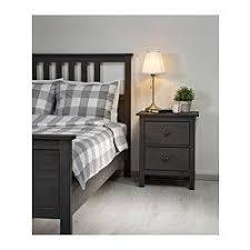 HEMNES <b>Bed frame</b> - <b>gray dark gray</b> stained, Luröy Queen   Ikea ...