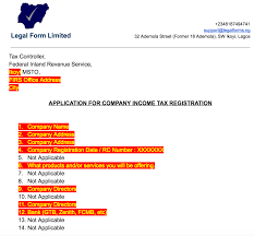 tin application letter firs ia legal forms