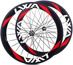 LVWA full 3K carbon fiber bike 60mm wheelset Road ... - Amazon.com