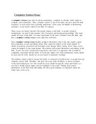 computer science essays wwwgxartorg computer science essay computer science essay a computer science essay be about a technology a method