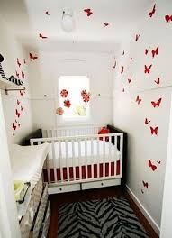 white baby nursery ideas for small spaces with butterfly wall decals baby nursery ideas small