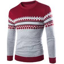 2019 New <b>Autumn Winter Round Neck</b> Pullover Men Slim Fit Knitted ...