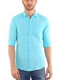 Shade <b>45</b> Men's Cotton Full Sleeve Sky Blue <b>Color Plain</b> Shirt ...