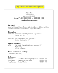 example resume for college students with no experience sample resume no work experience high school students
