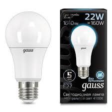 Светодиодная <b>лампа Gauss LED A70</b> 22W E27 1640lm 4100K ...