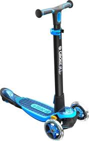 <b>Самокат YVolution Glider XL</b> Deluxe, черный, синий — купить в ...