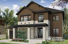 Story House Plans w garage from DrummondHousePlans comLewiston   Noyo Modern storey home plan   bedrooms  ensuite