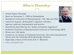 chomskys and skinners theory of language acquisition