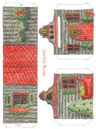 little paper villages mega list thrifty scissors lee publishing has both a black and white paper house version and a