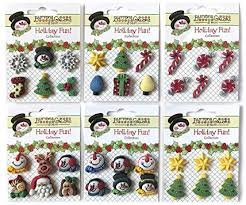 Buttons Galore Christmas 3D Buttons-Set of 6 Cards - Amazon.com