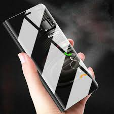 For Huawei P20 Pro Lite P Smart Clear View <b>Luxury Flip Stand</b> ...