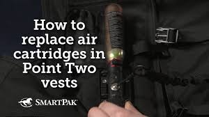 How to <b>replace</b> air <b>cartridges</b> in Point Two air vests - YouTube