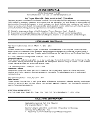Good Examples Of Resumes For Teachers Resume Sample Resume For Special Education Teaching Position Resume Sample