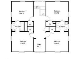American Foursquare House Floor Plans American Colonial Houses    Simple Square House Floor Plans One Story Square House