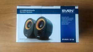 Обзор от покупателя на <b>Колонки SVEN 316</b>, черный (SV ...