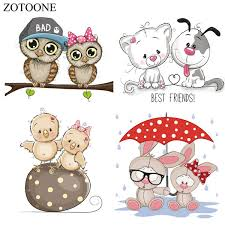2019 <b>ZOTOONE Lovely</b> Animal Iron On Appliques High Quality ...