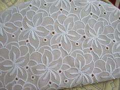 5' Wide Leaf Pattern <b>Cotton</b> Embroidery <b>Lace</b> Trim Garment <b>Clothing</b> ...