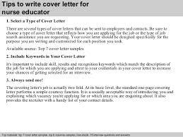 nurse educator cover letter      tips to write cover letter for nurse