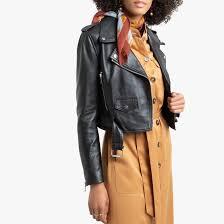 <b>Блузон</b> кожаный в байкерском стиле черный <b>La Redoute</b> ...