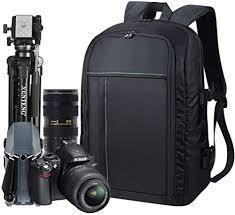 Estarer <b>Waterproof DSLR Camera</b> Laptop Backpack with Rain ...