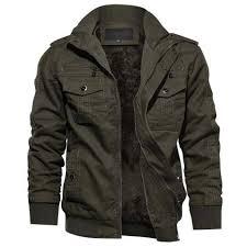 TACVASEN <b>Men's</b> Winter Jacket-Fleece <b>Cotton</b> Military Coat ...