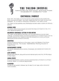 media info editorial format  the toledo journal related stories
