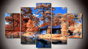 room wall decor natural scenery