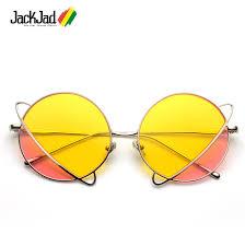 JackJad 2020 Fashion Double Color Tint <b>Ocean Lens</b> Round ...