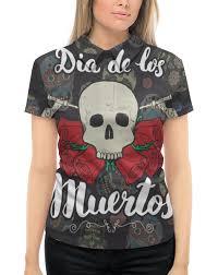 Рубашка Поло с полной запечаткой <b>Día</b> de Muertos #2319503 от ...