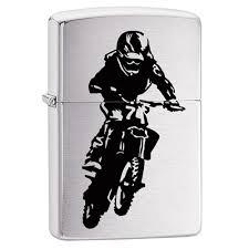 <b>Зажигалка ZIPPO 200 Motorcross</b> Rider с покрытием Brushed ...