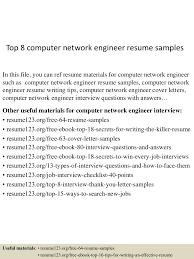 top8computernetworkengineerresumesamples 150517030436 lva1 app6892 thumbnail 4 jpg cb 1431831920