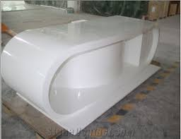 wb artificial stone marble white acrylic office desk standard office desk dimensions acrylic office desk