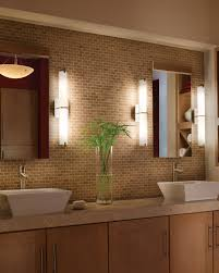 modern vanity lighting design for bathroom interior with wall neon lights on brown glass mosaic backsplash bathroom vanity lighting bathroom