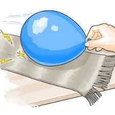 Balon digosok dengan kain wol