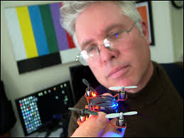 ... smaller than) the one he and BCTV contributor Mark Kuzio bought to give viewers of the public access channel a bird's eye view. (Photo by Ethan Andrews) - ned-lightner-mini-quadcopter2sm